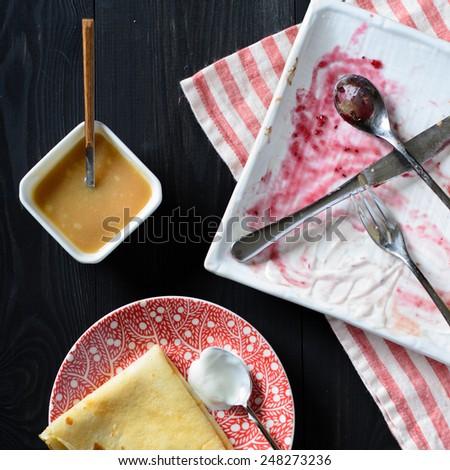 Leftover food - stock photo
