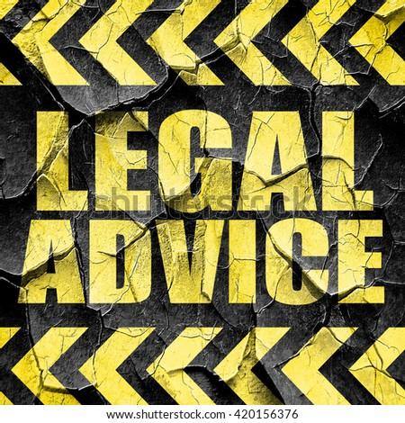 legal advice, black and yellow rough hazard stripes - stock photo
