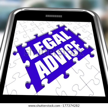 Legal Advice Smartphone Showing Online Lawyer Help - stock photo