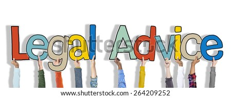 Legal Advice White Background Hands Hold Concept - stock photo