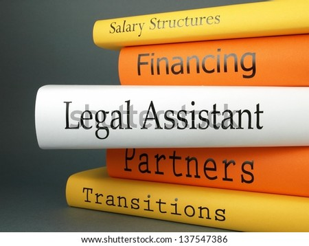 Legal assistant (book titles) - stock photo