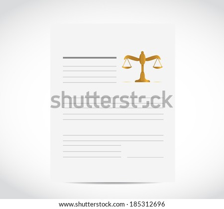 legal business document illustration design over a white background - stock photo
