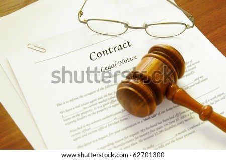 Legal Contract Gavel Attorney Name Plate Stock Photo 238918471