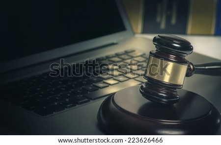 Legal cyber law concept image - stock photo