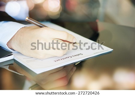 Legal document for sale - stock photo