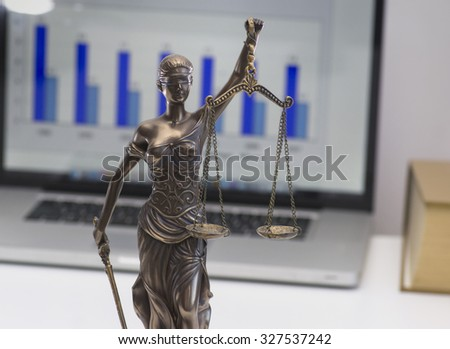 Legal law office symbol - scales of justice - stock photo