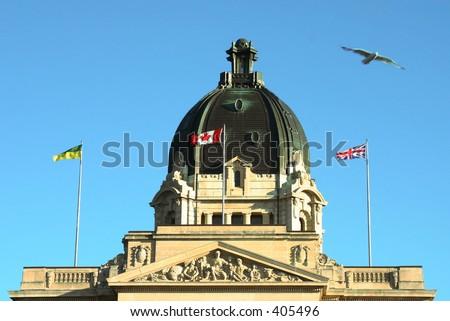 Legislature building in Regina, Saskatchewan, Canada - stock photo