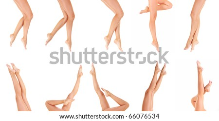 Legs Isolated Nude - stock photo