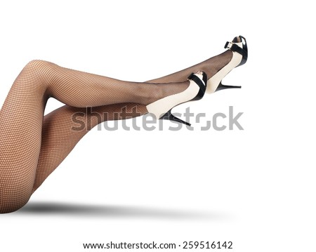 Legs of a woman seductive and sexy - stock photo