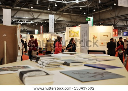 LEIPZIG, GERMANY - MARCH 15: Public day for LeipzigBook fair on March 15, 2013 in Leipzig, Germany. Leipzig Book Fair is the most important spring meeting place for the publishing and media sector.