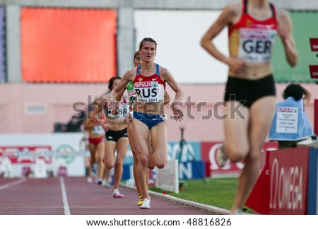 LEIRIA, PORTUGAL - MAY 20: SPAR European Team Championship runners in 3000 meters steeplechase , May 20, 2009 in Leiria, Portugal