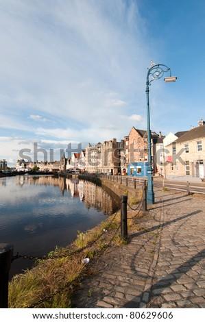 Leith harbour - Edinburgh, Scotland - stock photo