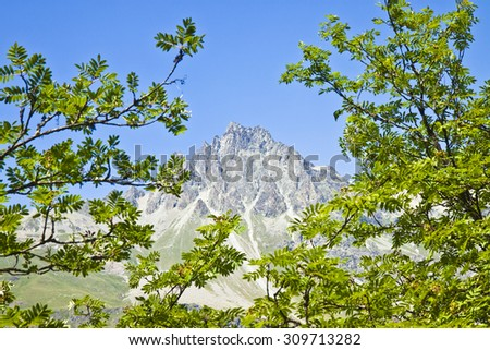 Lej da Segl, 1799 m. (Lake Sils) in the Upper Engadine valley, Grisons, Switzerland. It takes its name from the village of Sils im Engadin - Europe. - stock photo