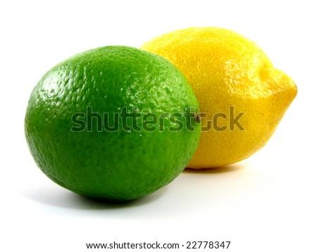 Lemon and Lime - stock photo