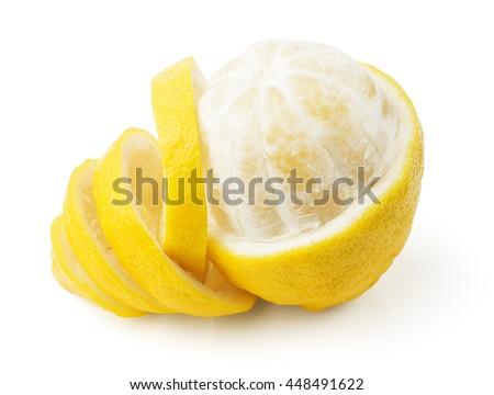 lemon and peel - stock photo