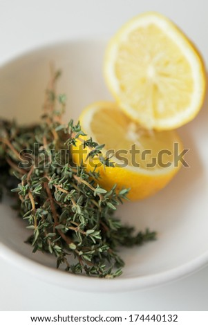 Lemon and thyme - stock photo
