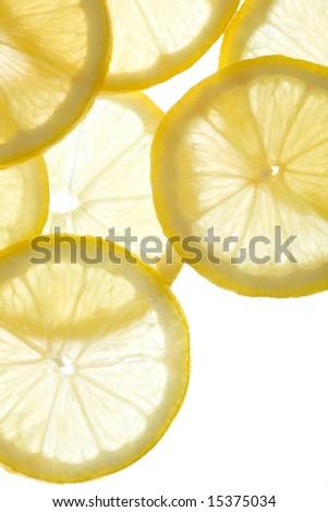 lemon background - stock photo