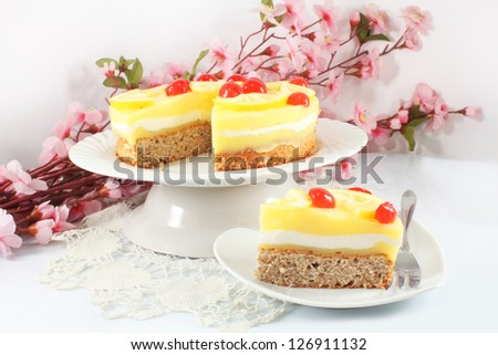 Lemon cake - stock photo