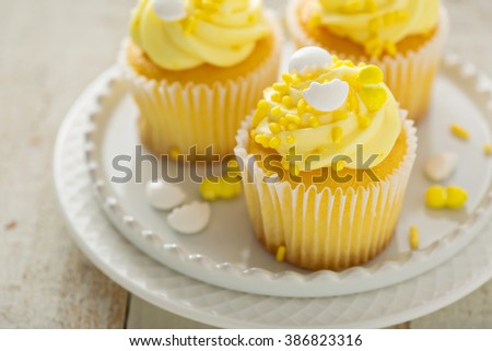 cupcakes with toffee chiffon cup cake delicious cupcake isolated on ...