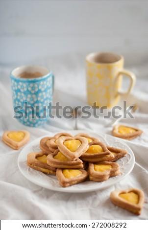 Lemon curd cookies - stock photo