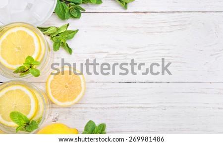 Lemon drink - stock photo