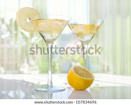 Lemon Drop Martini - stock photo