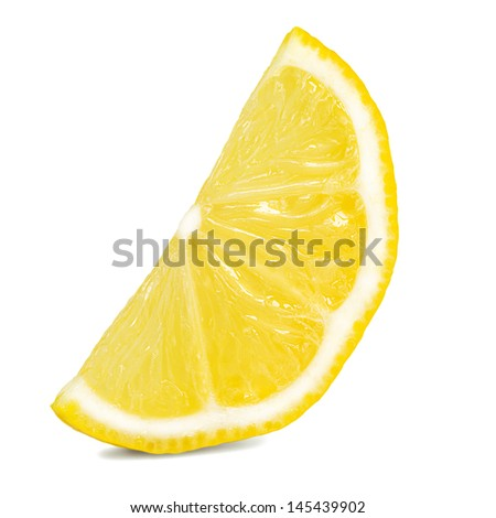 lemon fruit slice - stock photo