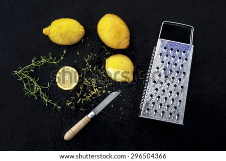 lemon grater - stock photo