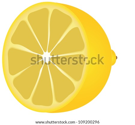 lemon half - stock photo
