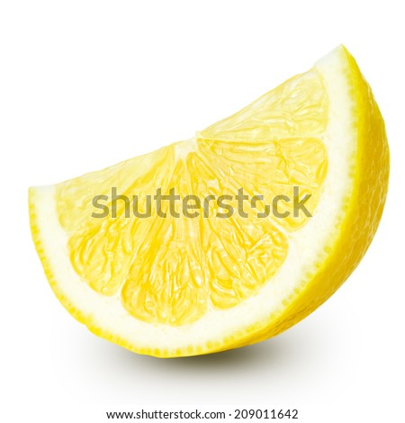 lemon half isolated on white background. Clipping Path  - stock photo