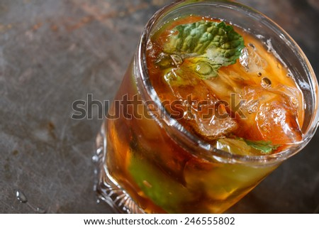 Lemon iced tea - stock photo