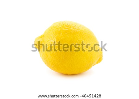 lemon isolated on white - stock photo