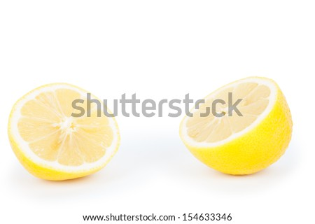 lemon isolated white background