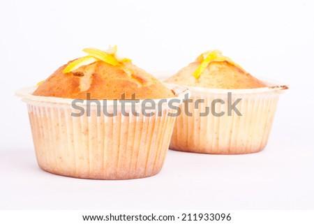 lemon muffin - stock photo
