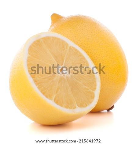 Lemon or citron citrus fruit isolated on white background cutout - stock photo