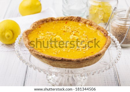 lemon pastry - stock photo