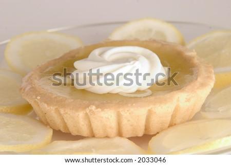 Lemon Pastry Tart - stock photo