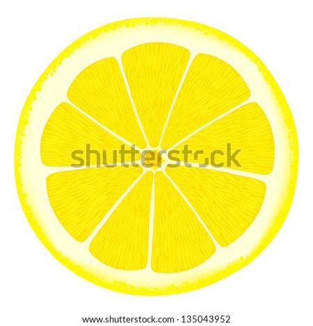 Lemon. Rasterized illustration. Vector version in my portfolio - stock photo