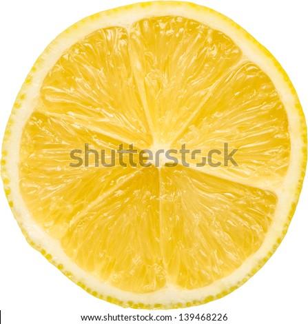Lemon Slice Isolated - stock photo
