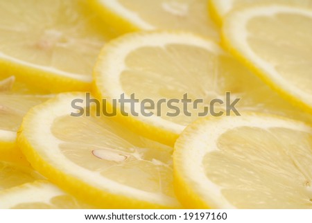 Lemon slices as background image