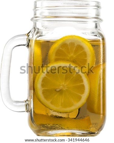lemon water concoction in a glass mug