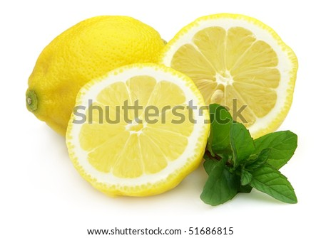 Lemon with peppermint