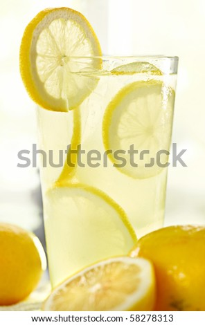lemonade and sunlight - stock photo