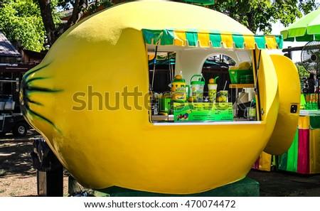 Lemonade Stand County Fair Stock Photo Royalty Free