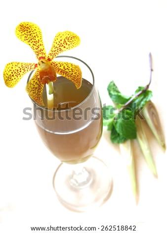 Lemongrass drink - stock photo