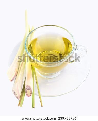 lemongrass tea - stock photo