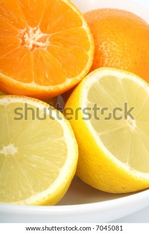 Lemons and tangerines - detail