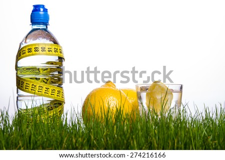 Lemons and water bottle
