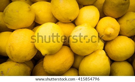 lemons background.   Group of fresh lemons