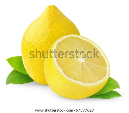 Lemons isolated on white - stock photo